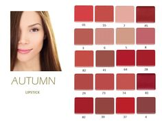 Autumn Lipsticks from Inglot. Swatched to the Unique to You Colour System