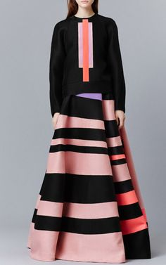 Roksanda Ilincic | Alver top + Osier skirt | silk + wool | pre-fall 2015