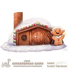 Daily Paint Gingerbread Shire by Cryptid-Creations on DeviantArt Kawaii Drawings, Cute Drawings, Ghost Drawings, Teenage Drawings, Animal Sketches, Animal Drawings, Animal Puns, Kawaii Doodles, Painted Books