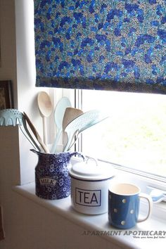 Liberty print blind #Cranston #Stile collection Learn how to make it on  @Gilda Locicero Apothecary blog