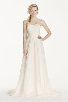 d6b717f2eb51b My New Favorite! www.davidsbridal.com 10811190 Polka Dot Wedding Dress