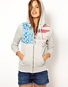 Image 1 of Hilfiger Denim Heart Zip Through Hoodie