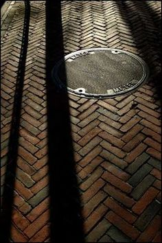 Red brick, herringbone