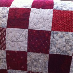 Red and White Snowflake Quilt 2010!