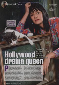 Paget Brewster Paget and her Cat