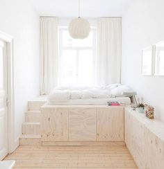 Peaceful Minimalist Living Spaces - The Zen Bedroom from Studio Oink is Serenely Fashionable (GALLERY) Home Bedroom, Bedroom Decor, Small Bedrooms, Japan Bedroom, Bedroom Ideas, Wooden Bedroom, Childs Bedroom, Bedroom Designs, Dream Bedroom