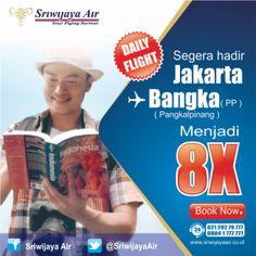 Sekarang kami terbang 8x setiap hari ke Bangka! See you soon on board Partners.