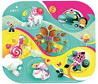Posti online shop Stamps Makeaa ystävänpäivää - kuuden (6) postimerkin arkki