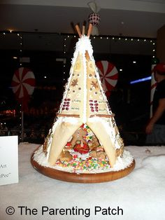 GINGERBREAD HOUSE~Gingerbread Teepee