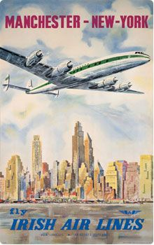 USA NEW YORK - #Vintage #Travel Manchester to New York with Irish Air Lines/Aer Lingus