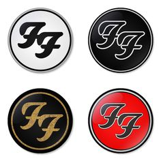 FOO FIGHTERS Rock Band logo Button Badge 1.75 inch Set. 4 pcs in package. You can choose back side of badge. we have Pinback ($7.49), Fridge Magnet ($8.49), Pocket Mirror ($8.49), Bottle opener Keychain ($9.99). The best Ideas Gift for Birthday, Party, Fashion, Concert. The band Head line up fastivals at Rock am Ring, Rock im Park and Rock Werchter on 2015. Member is Dave Grohl, Pat Smear, Taylor Hawkins, Nate and Chris. Albums that famous them is sonic highways, one by one, wasting light.
