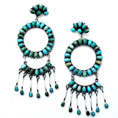 Blue Frost Navajo Turquoise Earrings