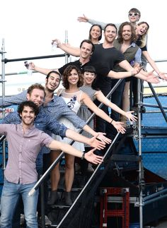 Team StarKid backstage during the 2015 ElsieFest on September 27, 2015 in NY at JBL Live at Pier 97.