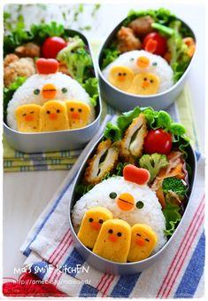 Mai's スマイル キッチン - cook for kids - Bento Ideas Bento Recipes, Baby Food Recipes, Healthy Recipes, Cute Food, Yummy Food, Comida Picnic, Bento Kids, Japanese Food Art, Food Humor