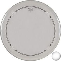 Remo P31122-C2 Coated Powerstroke 3 Bass Drum Head (22-Inch) - White Falam Patch Remo