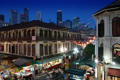 Chinatown by night, Singapore by williamcho, via Flickr