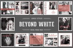 BEYOND WHITE Social Media Pack by Typography Prime on @creativemarket