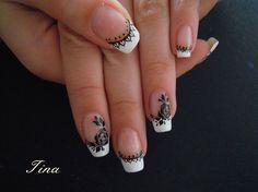 Black and white roses by Tina35 - Nail Art Gallery nailartgallery.nailsmag.com by Nails Magazine www.nailsmag.com #nailart