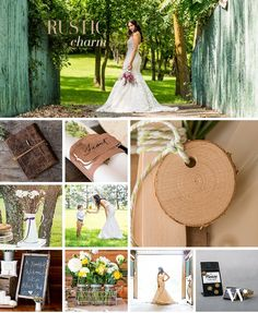 Often an intimate gathering with all the comforts of home, the rustic wedding theme is full of homespun and charming do-it-yourself details. This popular look comes to life with natural textures and layers of personality accented with lovely touches of DIY.
