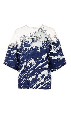 Short Sleeve Wave Top by Alena Akhmadullina for Preorder on Moda Operandi  Primavera Verão e99cc18b101d0