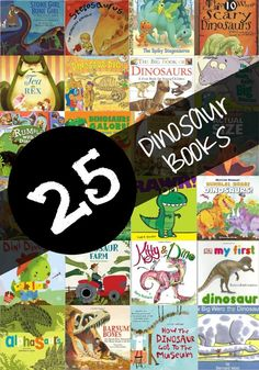 A list of 25 great Children's Dinosaur books for kids! I love the uniqueness and variety in this list! Such a great idea for reluctant readers in the classroom - I give these out from the Tooth Fairy too! Would make fun dinosaur birthday party favors and gifts!