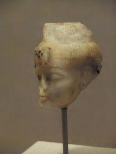 Head of Queen Tiye New Kingdom Dynasty 18 reign of Amunhotep III 1386-1349 BCE alabaster Egypt | by mharrsch