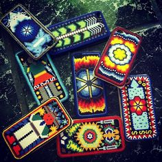 Mexican Art, Mexican Style, Native Beadwork, Bead Loom Patterns, Loom Beading, Nativity, Beaded Jewelry, Native American, Projects To Try