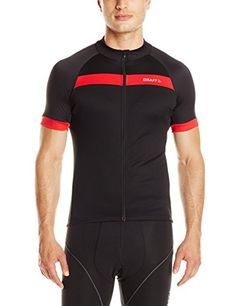 Craft Mens Motion Jersey BlackBright Red Large -- Check out the image by visiting the link. (Note:Amazon affiliate link)