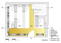 dARCHstudio- floor plan Optic shop Laskaris