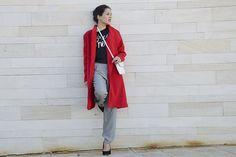 maxi-abrigo-xxl-blogger-rojo-look-outfit #kissmylook