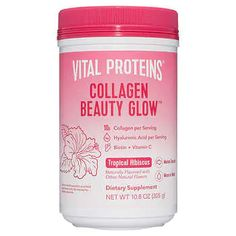 What is Beauty Collagen Glow. Collagen Per Serving Collagen Peptides Sourced From Snapper Scale Vital Proteins Collagen Beauty Glow product view strawberry lemon. Vital Proteins Collagen, Blueberry Lemonade, Collagen Powder, Hair Vitamins, Biotin, Natural Flavors, Beauty Hacks, Beauty Tips, Beauty Products