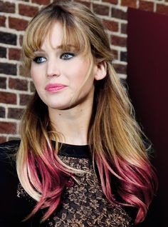Jennifer Lawrence - Red Tipped Hair Love her & the hair is awesome.