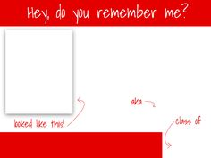 """Free 4x3"""" class reunion template! Click the link to download."""