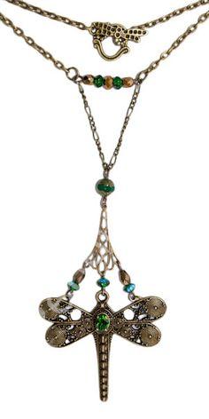 Colgante art nouveau Dragonfly verde   Art nouveau/art decó, Colecciones, Colgantes y collares   Pendientera.com - Bisutería y complementos ...