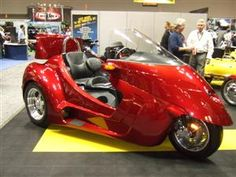 Thoroughbred Motorsports, a division of Motor Trike, was showing off its Ford engine powered Stallion three-wheeler.