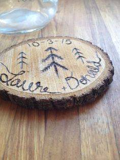 A personal favorite from my Etsy shop https://www.etsy.com/listing/225599667/wood-coaster-rustic-wedding-favors-wood