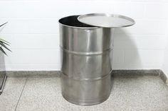 Barril em inox #raridade #inox  #drum #oildrum #industrialdesign #barril #rebecaguerra #lata #decoração