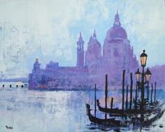 COLOURS OF VENICE (2013) Acrylic painting by Colin Ruffell | Artfinder