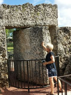 CORAL CASTLE-Florida. An engineering marvel that has been compared with Stonehenge and Great Pyramids of Egipt.This is the story of ED Leedskalnin a 5 foot tall 100pound Latvian immigrant,without any help,excavated,carved,and moved tons of coral rock.NINE TON GATE is a mystery and a crowning testament to ED.perfectly balance piece of stone can be turned by child,its fits within a quarter of an inch of its surrounding walls.