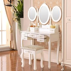 Elegance Dressing Table Set Vanity Makeup Table with Stoo... https://www.amazon.com/dp/B01KJS66D2/ref=cm_sw_r_pi_dp_x_LA3jzbB4J2WC8