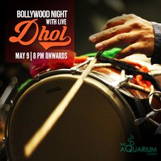 Make your Saturday even more happening and exciting with Bollywood tunes & LIVE DHOL. Head towards the venue and party like never before. This is truly going to be a perfect weekend at The Aquarium - Cafe, Lounge and Bar!