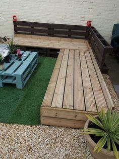 My pallet & deck garden lounger coming along nicley