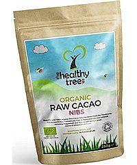 Bio rohe Kakao Nibs - leckeres Superfood hoch in Magnesium, Faser, Kalium und Eisen - Toll auf Joghurt, Müsli und Smoothies - Bio Kakaonibs von TheHealthyTree Company