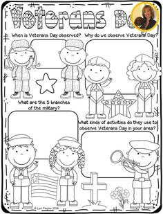 This is an adorable poster for your students to color while learning about Veterans Day. When Is Veterans Day, Free Veterans Day, Veterans Day Activities, Holiday Activities, Math Activities, Holiday Crafts, School Holidays, School Fun, School Classroom