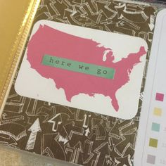 Mrs Crafty Adams | Project Life 2013 - Vacation! travel US map