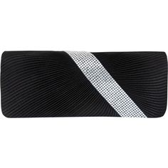 JOYCE - Asymmetrical Diamante Ruched Satin Clutch (€30) ❤ liked on Polyvore featuring bags, handbags, clutches, black, black evening clutches, black satin purse, black clutches, satin clutches and evening clutches