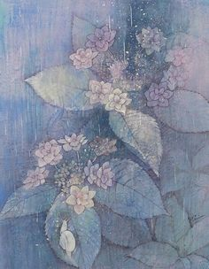 Oriental, Japanese Painting, Japan Art, Watercolor Cards, Art Floral, Flower Art, Print Design, Painting & Drawing, Fine Art