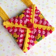 TaDah! 1 crochet envelope clutch / Coin Purse - free tutorial crafternoontreats.com