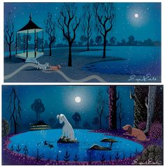 Concept art from Eyving Earle for Lady and the tramp