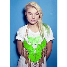 Neon Green Leather Breastplate Necklace |    #Scrubs #Nurses #Nursing #StudentNurse #SmittenScrubs @SmittenScrubs #healthcare #uniforms #NursingUniforms #StPatricksDay